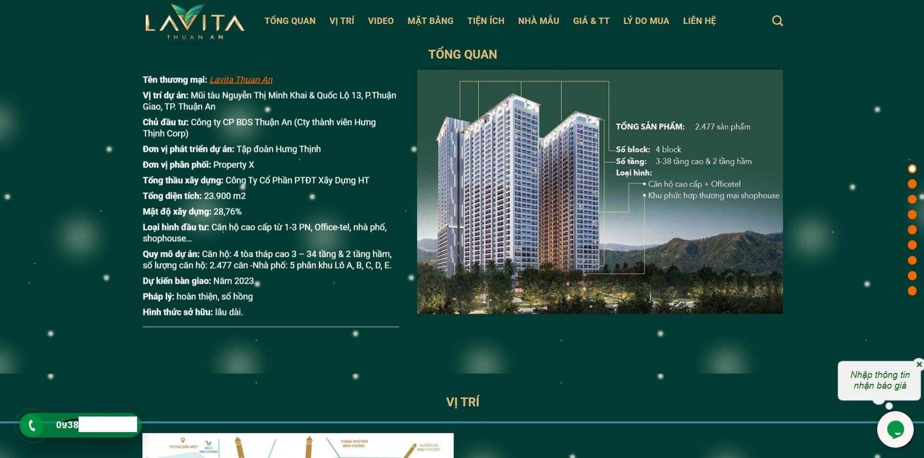 Thiết kế website bds canholavita