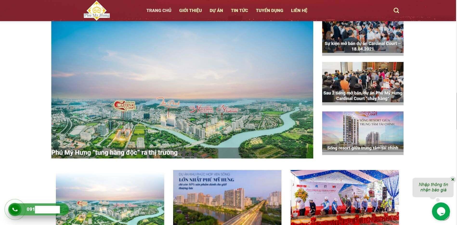 Thiết kế website bds phumyhungcity